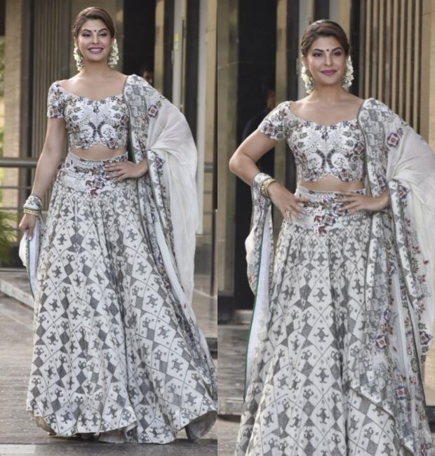 Jacqueline Fernandez at Sonam Kapoor's Mehendi and Sangeet ceremony