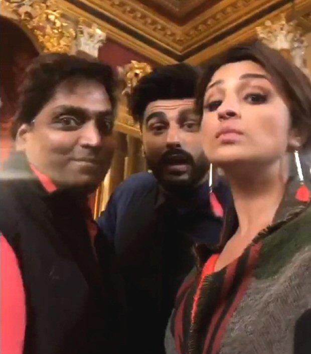 NAMASTE ENGLAND: Parineeti Chopra and Arjun Kapoor gear up for a song shoot in London with 'Namaste Headshake'