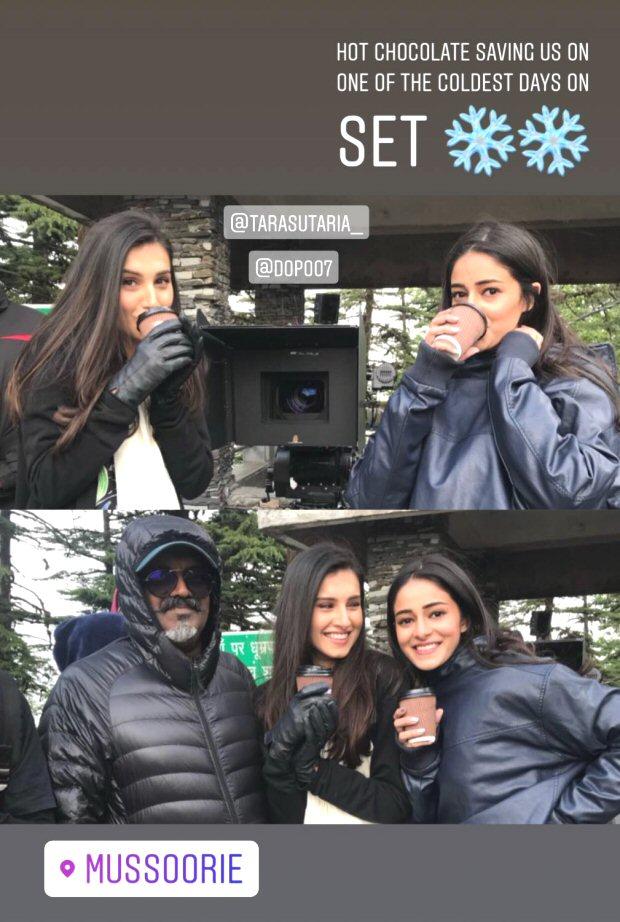 Student of the Year 2: Tara Sutaria and Ananya Panday grab hot chocolate coffee; Tiger Shroff plays cricket