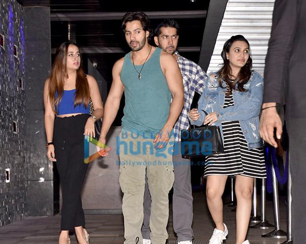 Varun Dhawan was seen having dinner with Natasha Dalal and his family