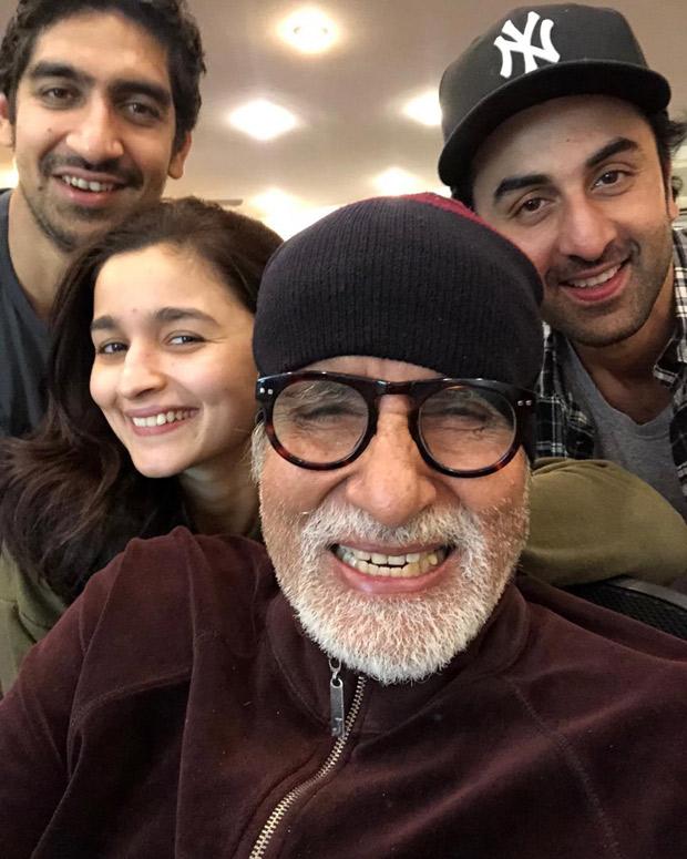 Check out Amitabh Bachchan shares fun pics with Ranbir Kapoor and Alia Bhatt from Bramhastra prep