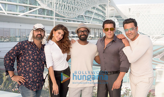 EXCLUSIVE: Catch Salman Khan, Jacqueline Fernandez and the rest of the Race 3 team shooting in picturesque locales of Abu Dhabi [see pics]