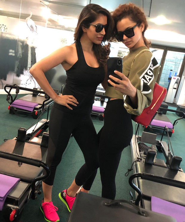 Kangana Ranaut sweats it out in the gym with her gum buddy Sophie Choudry in London
