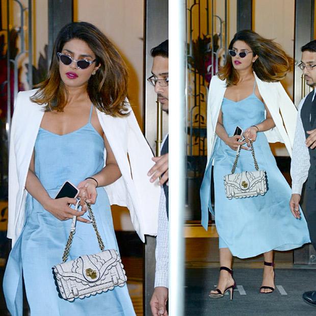 Priyanka Chopra - Chic in Blue
