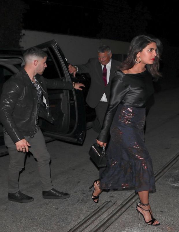 Priyanka Chopra on a date night with Nick Jonas