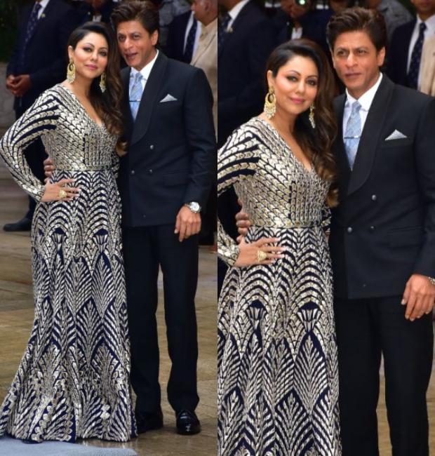 SRK and Gauri Khan at the Ambani bash