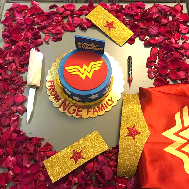 Sajid Nadiadwala and family give Warda a WONDER WOMAN themed surprise, a week before her birthday