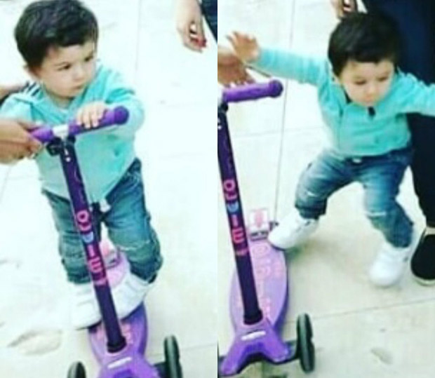 Taimur Ali Khan is over swings, graduates to cycling in the presence of doting mommy Kareena Kapoor Khan