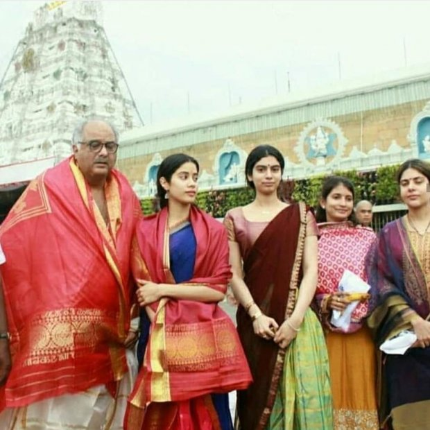 Janhvi Kapoor follows Sridevi's tradition, visits Tirupati with Boney Kapoor before Dhadak release