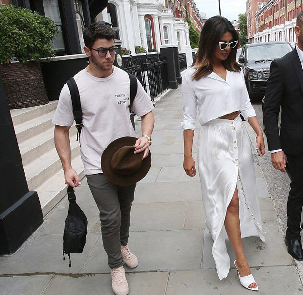 After cozy birthday dinner date, Priyanka Chopra and beau Nick Jonas twin in white in London