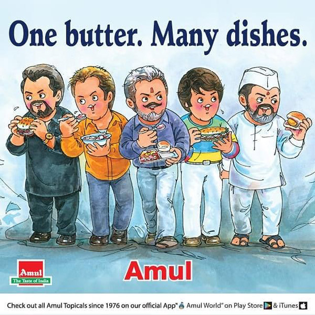 Amul dedicates a special post to Ranbir Kapoor starrer Sanju after a record-breaking opening weekend