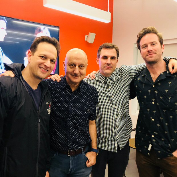 Anupam Kher meets Armie Hammer, Josh Charles, Paul Schneider and Stephan Payne in New York