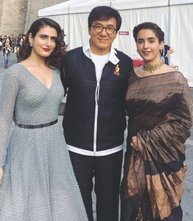 Dangal actresses Fatima Sana Shaikh and Sanya Malhotra can't stop fangirling after meeting Jackie Chan