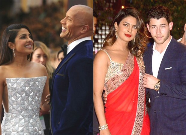 Dwayne Johnson jokes he is the matchmaker between Baywatch and Jumanji co-stars Priyanka Chopra and Nick Jonas