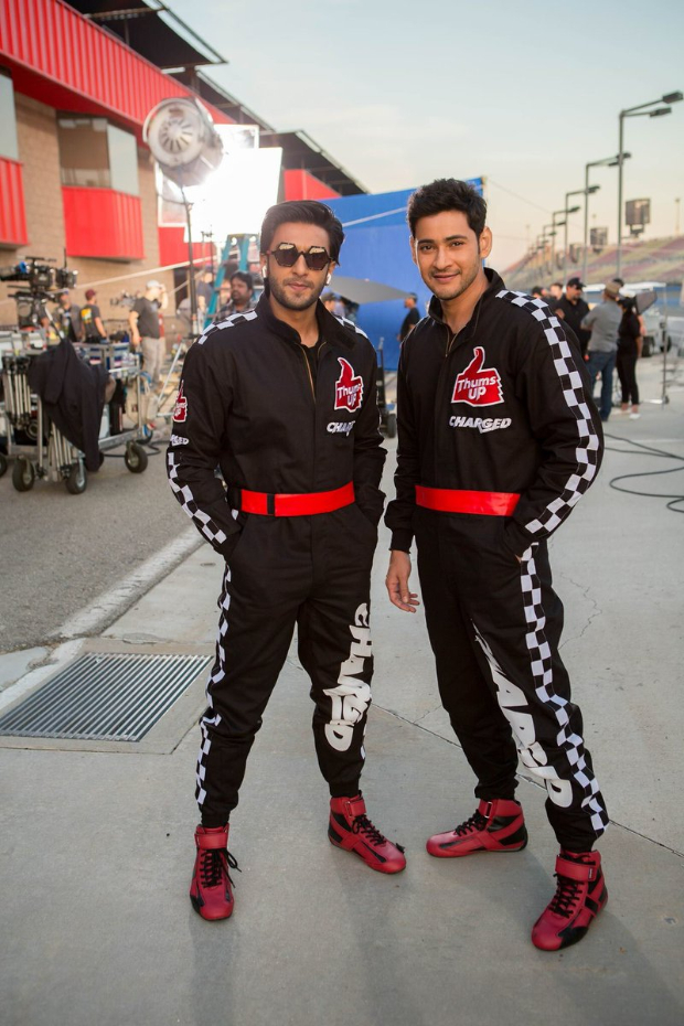 Wohoo! Bollywood superstar Ranveer Singh and South superstar Mahesh Babu SHOOT TOGETHER and they look as charming as ever!