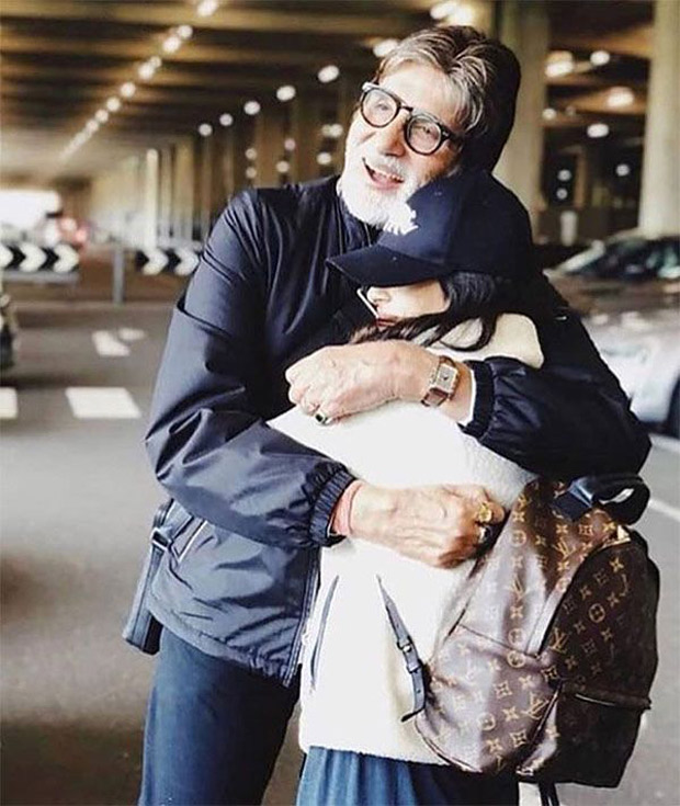 Navya Naveli's hug to grandfather Amitabh Bachchan will warm the cockles of your heart (see picture)