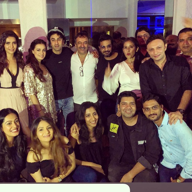 Ranbir Kapoor, Rajkumar Hirani, Karishma Tanna, Dia Mirza along with Sanju team celebrate the massive success with a grand bash