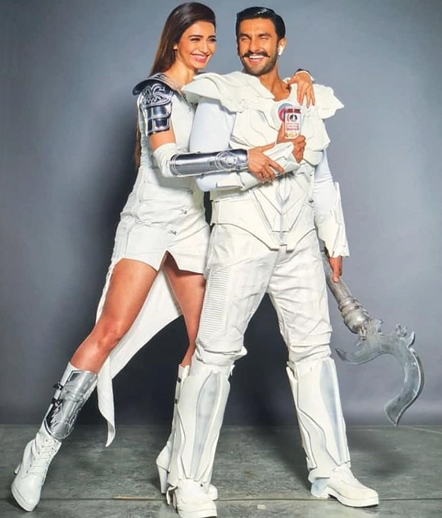 Ranveer Singh and Sanju actress Karishma Tanna sport futuristic look for a commercial shoot