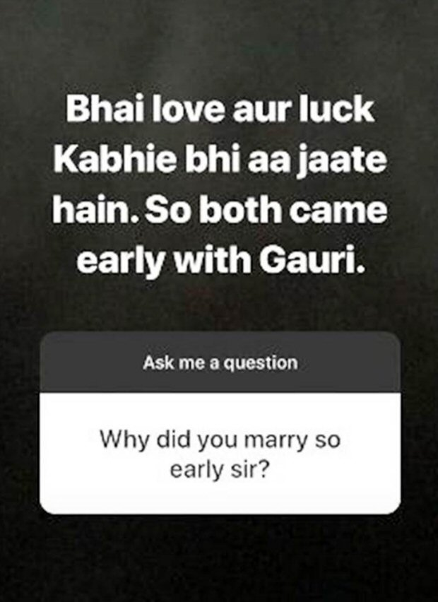 Shah Rukh Khan finally gives us the REAL reason why he married Gauri so early