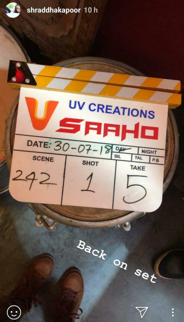 SAAHO: Shraddha Kapoor kicks off second schedule of this Prabhas starrer