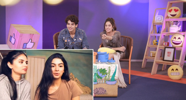 WATCH: Khushi Kapoor surprises sister Janhvi Kapoor during Facebook chat for Dhadak with Ishaan Khatter