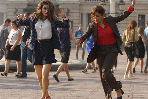 BFF Goals Fatima Sana Shaikh and Sanya Malhotra break into an impromptu DANCE on the streets of Europe (catch video)