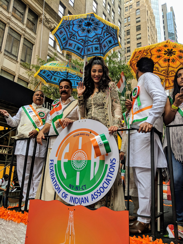 Kamal Haasan and Shruti Haasan attend the India Day Parade in New York