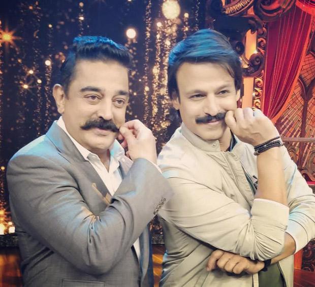 Kamal Haasan and Vivek Oberoi bond on the sets of India's Best Dramebaaz!