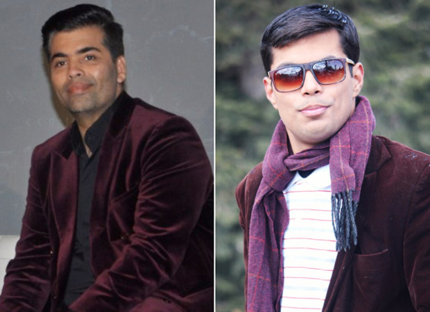 Karan Johar is left speechless after seeing a photo of his doppelganger