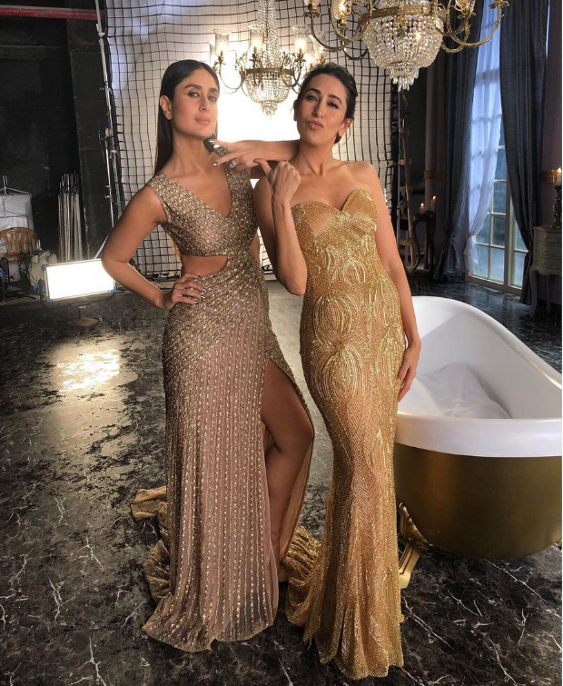 Kareena Kapoor Khan and Karisma Kapoor for Lux Ad-shoot (2)