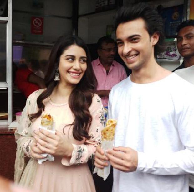 Loveratri pair Aayush Sharma and Warina Hussain seek blessing at Kali Temple and enjoy street food in Kolkata