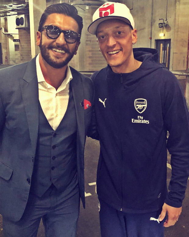 Ranveer Singh had a fanboy moment when he meets Arsenal star Mesut Ozil