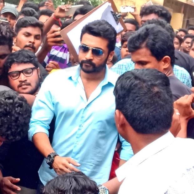 South superstar Suriya GETS mobbed in Andhra Pradesh and the shoot of NGK gets stalled [watch video]