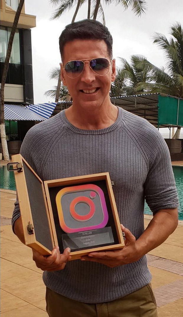 WHOA! Instagram awards Gold star Akshay Kumar a trophy on becoming first Bollywood actor to cross 20 million