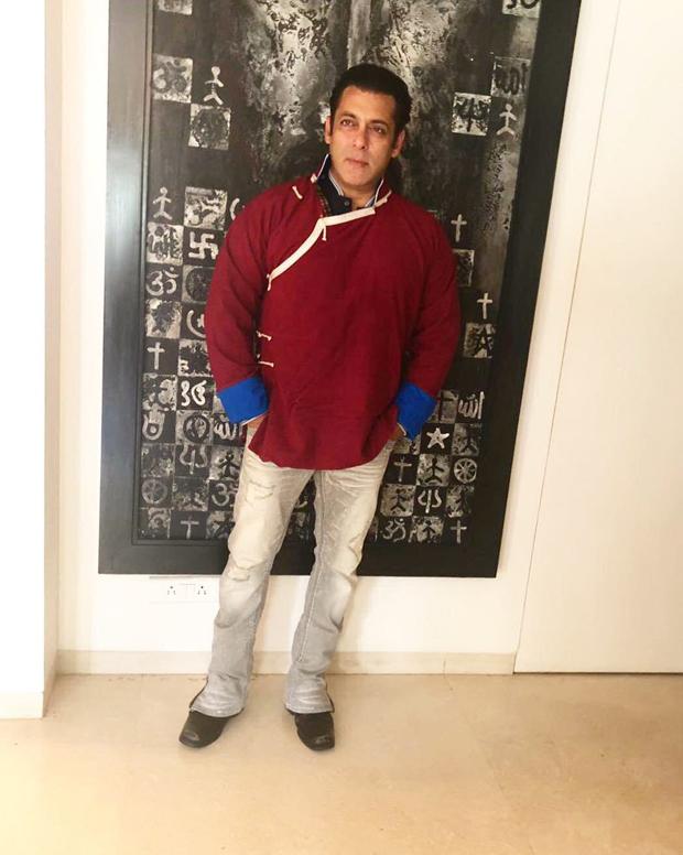 Check out Salman Khan sports a traditional monpa jacket to promote Arunachal Pradesh