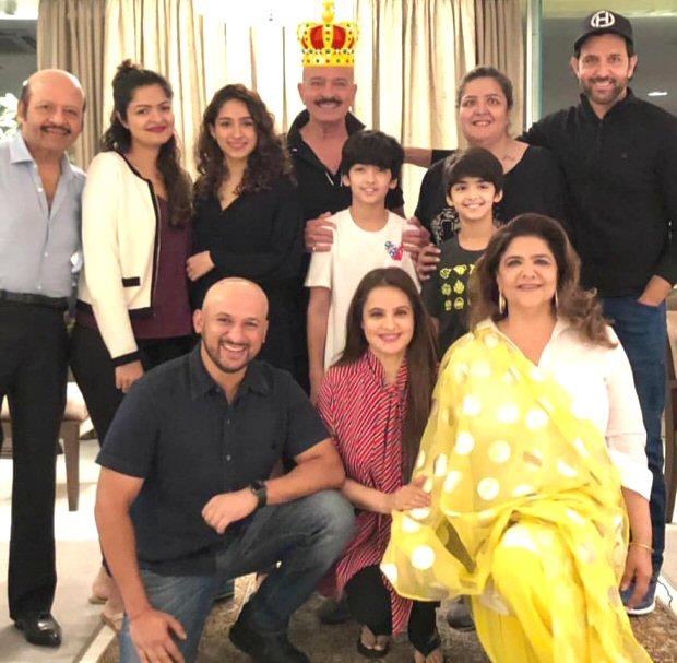 Inside Pics Hrithik Roshan brings in father Rakesh Roshan's birthday with a family dinner