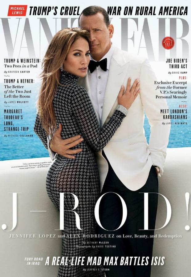 Jennifer Lopez and Alex Rodriguez for Vanity Fair
