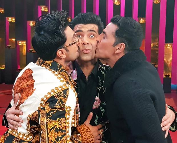 Koffee With Karan 6: Akshay Kumar and Ranveer Singh KISS Karan Johar