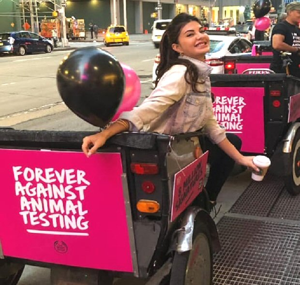Jacqueline Fernandez expresses her views against animal testing at the UN