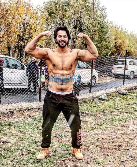Varun Dhawan shot a scene bare-chested at minus-three-degree temperature for Kalank