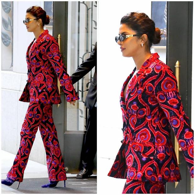 Priyanka Chopra in Anna Sui while in NYC (2)