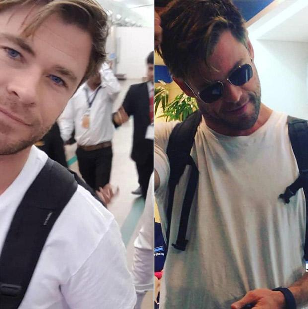 Thor aka Chris Hemsworth arrives in Ahmedabad to shoot Netflix film with Manoj Bajpayee and Randeep Hooda