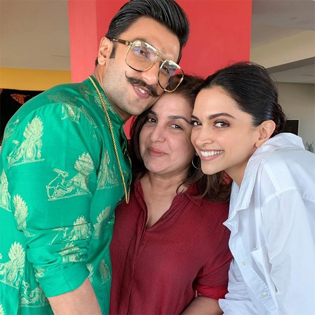 Ahead of their wedding, Deepika Padukone and Ranveer Singh strike a pose with Farah Khan