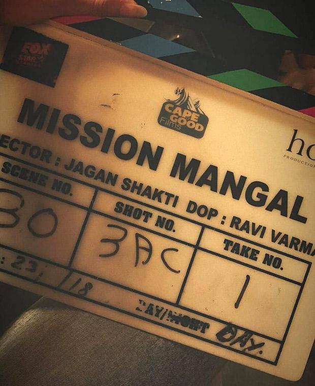 Akshay Kumar and Vidya Balan commence work on R. Balki's Mission Mangal