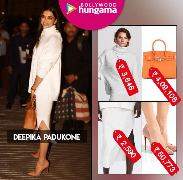 779a7ac2f0f9 Deepika Padukone in Zara separates, Hermes bag and Christian Louboutin  pumps (1)