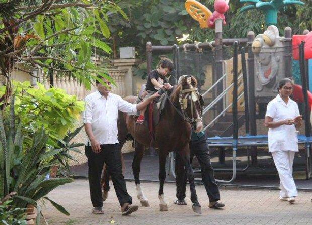 Jr. Nawab Taimur Ali Khan rides a pony displaying peak royal traits, gives us a CUTE ATTACK (see pics)