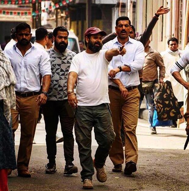 ON THE SET: Nikkhil Advani gives a glimpse of John Abraham's intense look in BATLA HOUSE