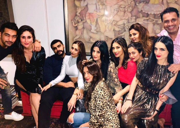 Rumoured couple Arjun Kapoor, Malaika Arora GET COZY as they begin the party season with Kareena Kapoor Khan and friends
