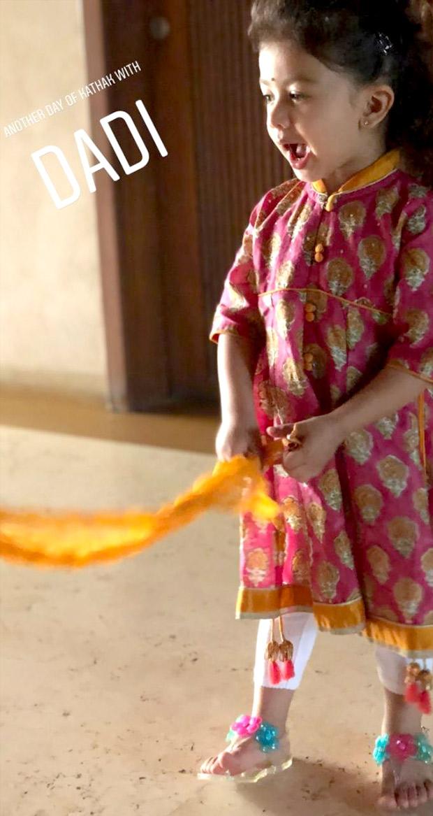 39a9f3ab8eb5 Shahid Kapoor's daughter Misha Kapoor learns kathak from grandmother  Neelima Azeem