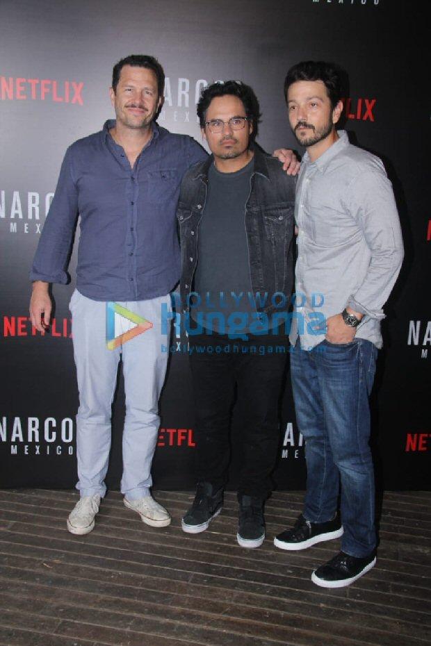 When Sacred Games duo Saif Ali Khan and Nawazuddin Siddiqui met Narcos actors Diego Luna and Michael Pena